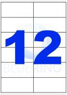 BLUERING ETIKETT 105X48MM 100LAP 12CÍMKE/LAP