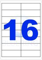 BLUERING ETIKETT 99,1X33,9MM 100LAP 16CÍMKE/LAP