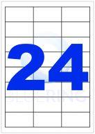 BLUERING ETIKETT 64,3X34MM 100LAP 24CÍMKE/LAP