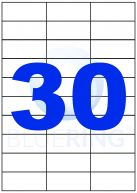 BLUERING ETIKETT 70X29,6MM 100LAP 30CÍMKE/LAP