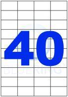 BLUERING ETIKETT 52,5X29,7MM 100LAP 40CÍMKE/LAP