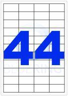 BLUERING ETIKETT 48,5X25,4MM 100LAP 44CÍMKE/LAP