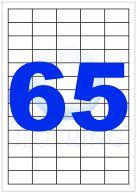 BLUERING ETIKETT 38,1X21,2MM 100LAP 65CÍMKE/LAP
