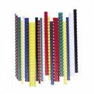 Spirál, műanyag, 12 mm, 56-80 lap, FELLOWES, 100 db, fekete
